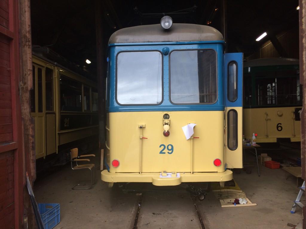 Vogn 29 har fått tall på bakplaten