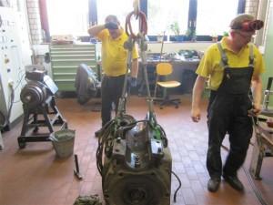 Verkstedet i Gera har begynt med revisjonen av banemotorene til GB 5