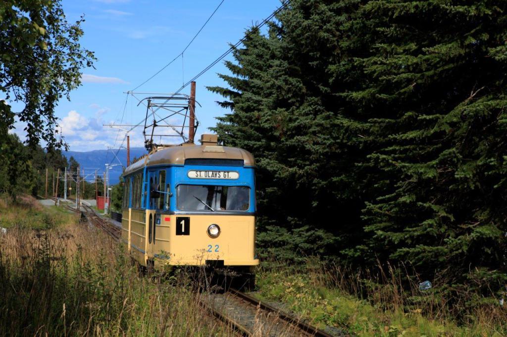 Vogn 22 på vei opp fra Bygrensen 24 august 2014. Foto: Odd Rune Wold